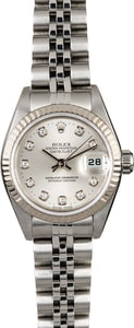 Ladies Rolex Datejust 79174 Rhodium Diamond Dial