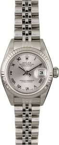 Used Rolex Lady Datejust 79174 Rhodium Roman Dial