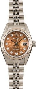 PreOwned Rolex Lady Datejust 79174 Salmon Diamond Jubilee Dial