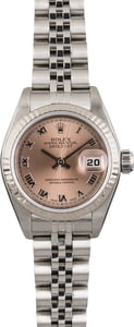 Pre Owned Rolex Lady Datejust 79174 Roman Salmon Dial