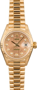 Pre-Owned Rolex Ladies President 79178 Diamond Jubilee Dial