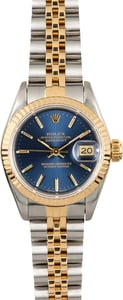 Rolex Lady-Datejust Blue 69173 Certified Pre-Owned