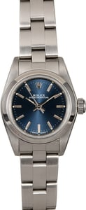 Women's Rolex Oyster Perpetual 67180 Blue Dial