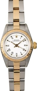 Rolex Oyster Perpetual 67193 White Arabic Dial