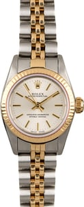 Women's Rolex Oyster Perpetual 67193 Silver Dial