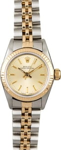 Rolex Oyster Perpetual 67193 Champagne Dial