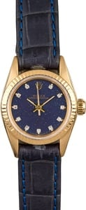 Ladies Rolex Oyster Perpetual 67198 Blue Diamond Dial