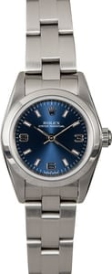 Rolex Ladies Oyster Perpetual 76080 Blue Dial