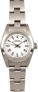 Rolex Ladies Oyster Perpetual 76080 White Roman Dial