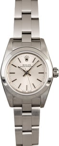 Rolex Lady Oyster Perpetual 76080 Silver Index Dial