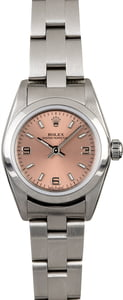 Rolex Lady Oyster Perpetual 76080 Salmon Dial