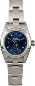Women's Rolex Oyster Perpetual 76080 Blue Dial