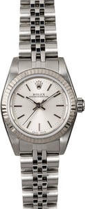 Rolex Ladies Oyster Perpetual 76094 Silver Dial