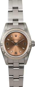 Rolex Ladies Oyster Perpetual 76094 Steel Oyster