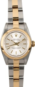 Rolex Ladies Oyster Perpetual 76183 Two Tone Oyster