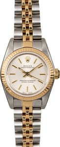 Ladies Rolex Oyster Perpetual 76193 Silver Dial