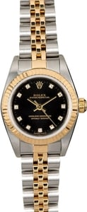 Ladies Pre Owned Oyster Perpetual Stainless and Gold Watch 76173