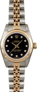 Rolex Lady Oyster Perpetual 76193 Black Diamond Dial