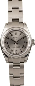 Rolex Lady Oyster Perpetual 176200 Roman Slate Dial