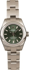 Rolex Ladies Oyster Perpetual 176200 Olive Green Dial