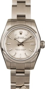 Rolex Lady Oyster Perpetual 176200 Silver Dial