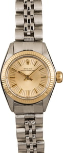 Used Rolex Lady Oyster Perpetual 6719 American Oval Link Bracelet