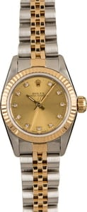 Ladies Rolex Oyster Perpetual 67193 Two-Tone
