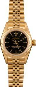 Rolex Lady Oyster Perpetual 67198 Yellow Gold Jubilee