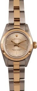 Rolex Lady Oyster Perpetual 67243 Silver Quadrant Dial