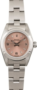 Used Rolex Ladies Oyster Perpetual 76080 Pink Dial