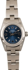 Used Rolex Oyster Perpetual Ladies 76080 Blue Dial