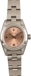 Used Rolex Oyster Perpetual Ladies 76080 Pink Dial