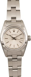 Pre Owned Rolex Lady Oyster Perpetual 76080 Silver Dial