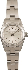 Pre-Owned Rolex Lady Oyster Perpetual 76080 Silver Dial