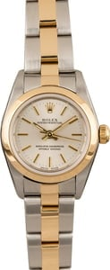 Used Rolex Ladies Oyster Perpetual 76183 Silver Index Dial