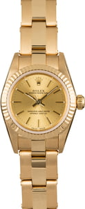 Rolex Oyster Perpetual 76198 Yellow Gold Ladies Watch