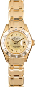 Ladies Pre-owned Rolex MasterPiece Pearlmaster 80318