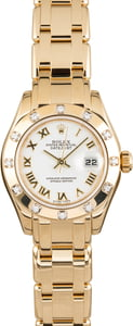 Used Rolex Lady Pearlmaster Datejust 80318 Diamond Bezel