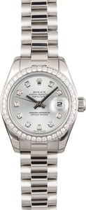 Rolex Platinum President 179136 Diamonds