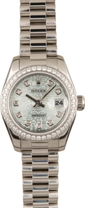 Rolex Platinum President 179136 Ice Blue Diamond Dial