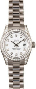 Diamond Rolex Lady President 179159 White Gold