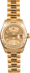 Rolex Lady President 179178 Champagne Dial