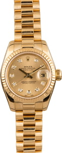 Pre Owned Rolex Ladies President 179178 Diamond Dial