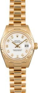 Pre Owned Rolex Lady President 179178 Diamond Dial