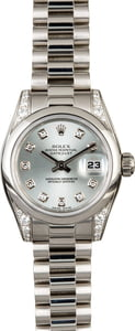 Rolex Ladies Platinum President 179296 Diamonds