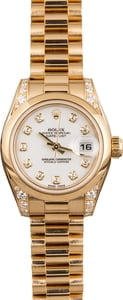 Pre Owned Rolex Lady President 179298 Diamond Dial & Bezel