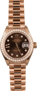 Rolex Ladies Diamond Datejust 279135 Rose Gold