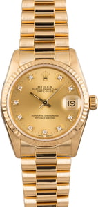 Rolex Midsize Datejust 68278 Diamond Dial
