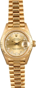 Rolex Lady President 69138 Diamond Dial