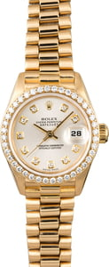 Used Ladies Rolex President 69138 Diamond Bezel & Dial